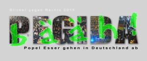 PEGIDA bääh! Sticker gegen Rechts 2015